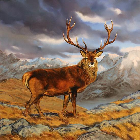 Natalie Stutely, Original oil painting on panel, Glen Etive, Rannoch Moor No frame image. Click to enlarge