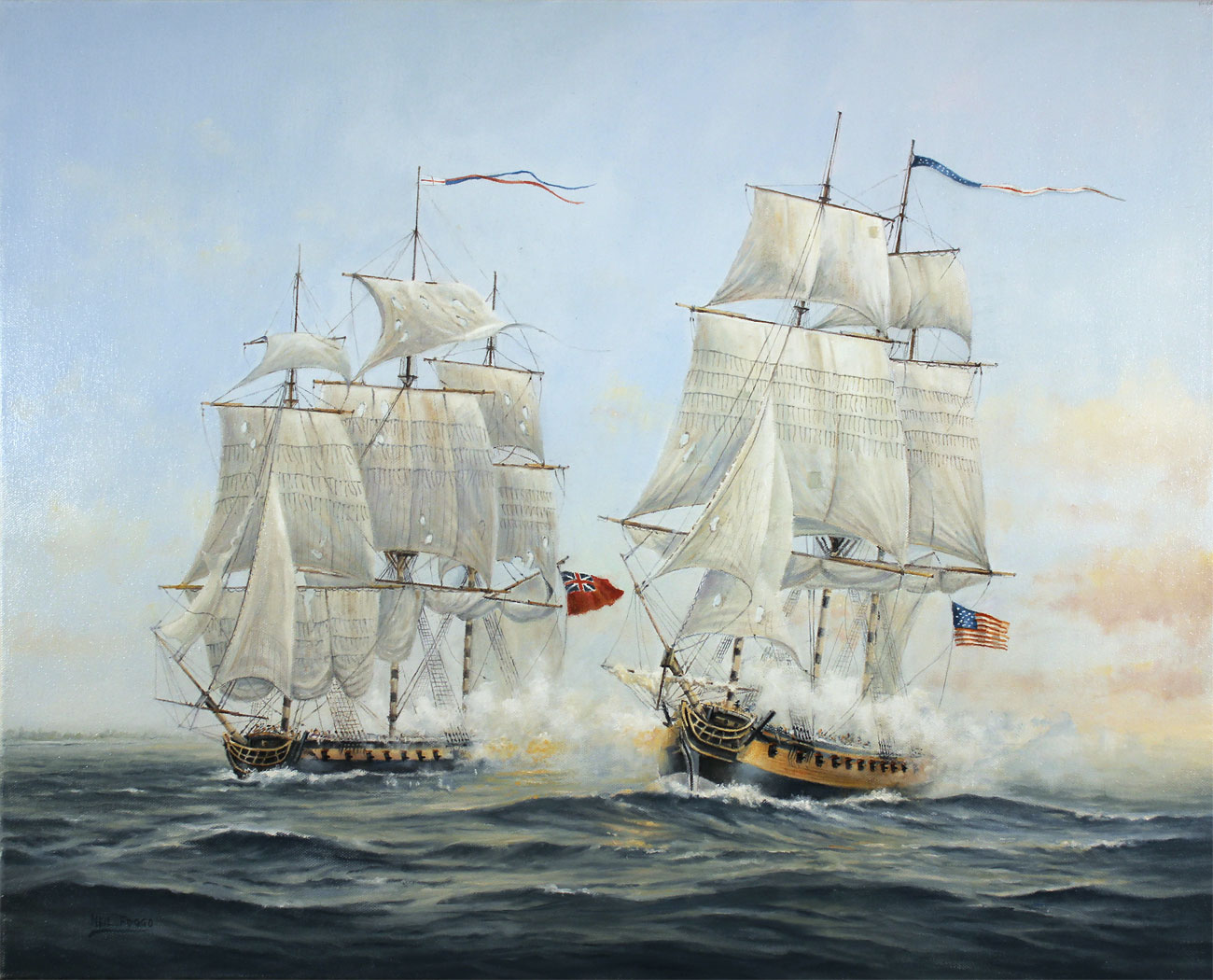 Neil Foggo, Original oil painting on canvas, A Battle Joined Click to enlarge