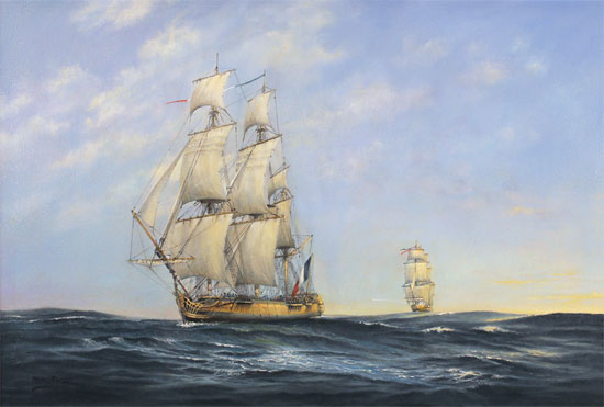 Neil Foggo, Original oil painting on canvas, Hermione Makes Her Escape No frame image. Click to enlarge