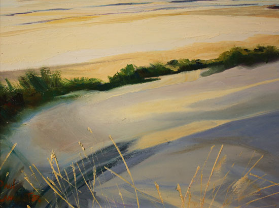 Paul Lancaster, Original oil painting on panel, Soft Sands Signature image. Click to enlarge