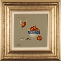 Paul Wilson, Original oil painting on panel, Apricots