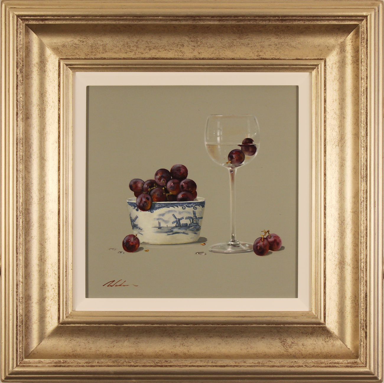 Paul Wilson, Original oil painting on panel, Grapes Click to enlarge