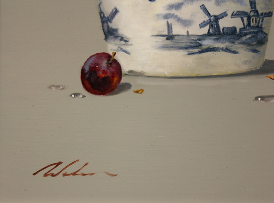 Paul Wilson, Original oil painting on panel, Grapes Signature image. Click to enlarge