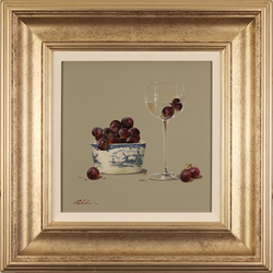 Paul Wilson, Original oil painting on panel, Grapes