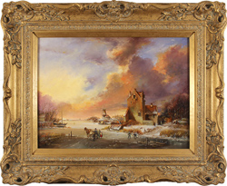 Paul Wilson, Original oil on canvas, Dutch Scene