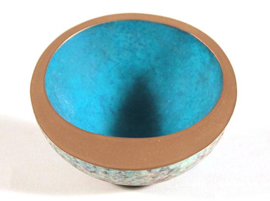 Philip Hearsey, Bronze, Lunar Rollerbowl No frame image. Click to enlarge
