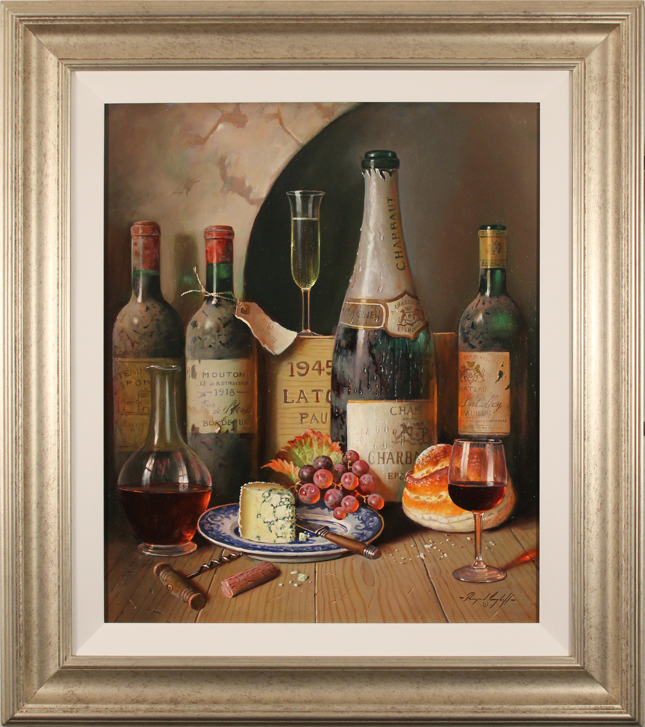 Raymond Campbell, Original oil painting on panel, Cellar Celebrations Click to enlarge
