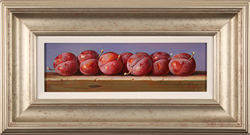 Raymond Campbell, Original oil painting on panel, Plums