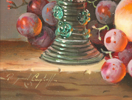 Raymond Campbell, Original oil painting on panel, A Sweet Finish
