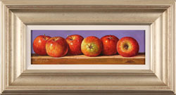 Raymond Campbell, Original oil painting on panel, Apples