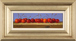 Raymond Campbell, Original oil painting on panel, Cherries