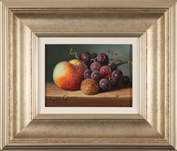 Raymond Campbell, Original oil painting on panel, Mixed Fruit