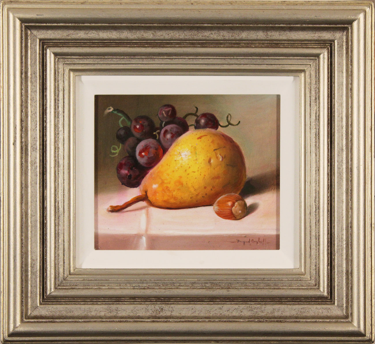 Raymond Campbell, Original oil painting on panel, Fruit to Start  Click to enlarge