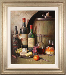 Raymond Campbell, Original oil painting on panel, Feast for the Senses