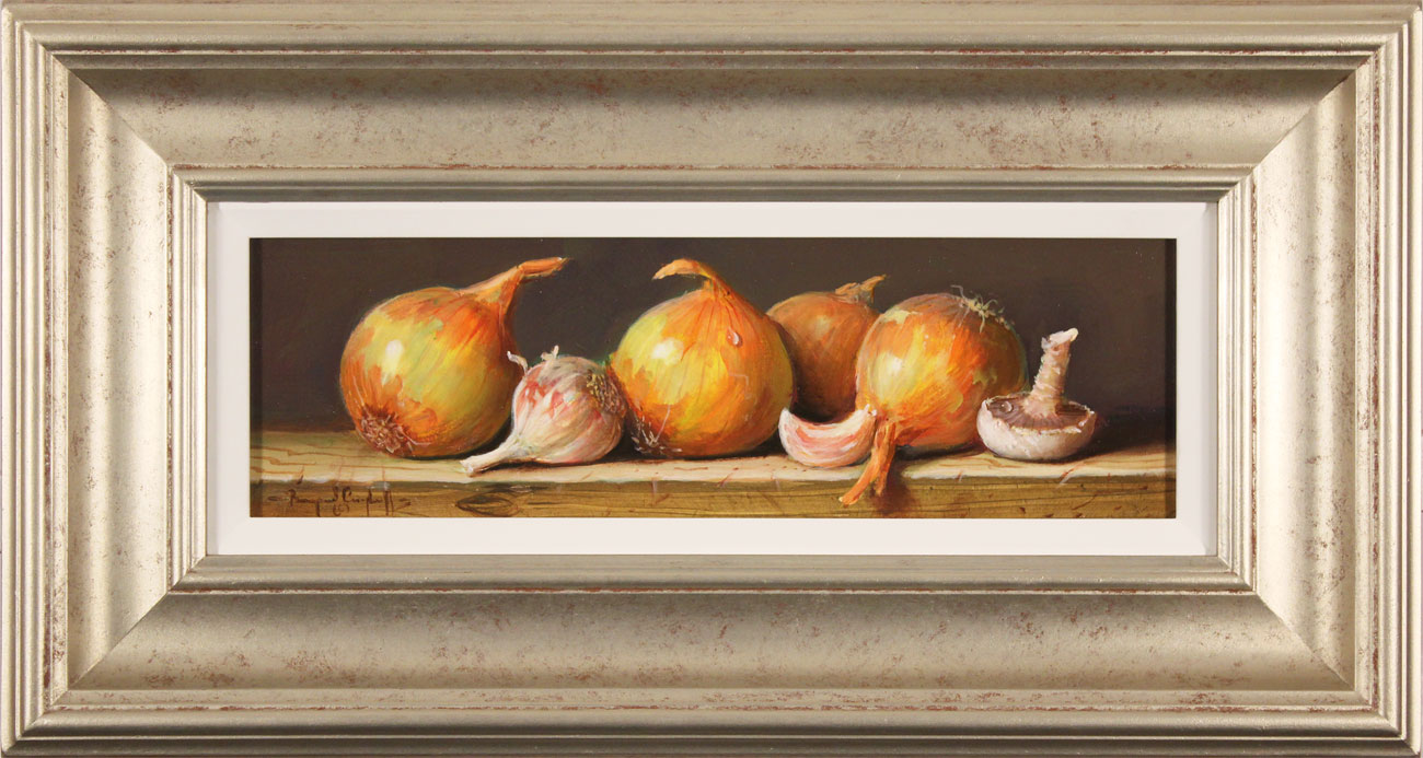Raymond Campbell, Original oil painting on panel, Onions Click to enlarge