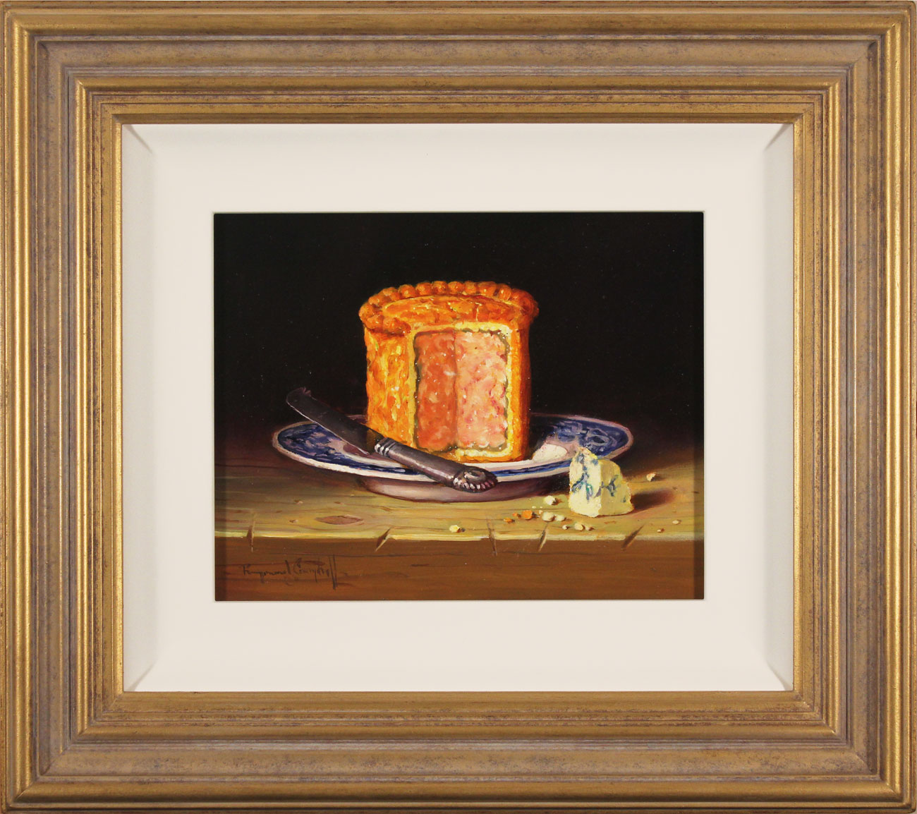 Raymond Campbell, Original oil painting on panel, Pork Pie Click to enlarge