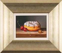 Raymond Campbell, Original oil painting on panel, Sweet Treat