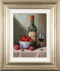 Raymond Campbell, Original oil painting on panel, Notes of Cherry and Plum