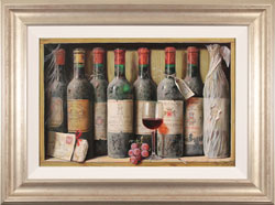 Raymond Campbell, Original oil painting on panel, Finest from the Cellar