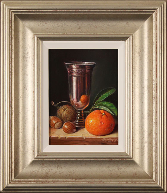 Raymond Campbell, Original oil painting on panel, Finest Silver