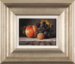Raymond Campbell, Original oil painting on panel, Fruit with Walnut