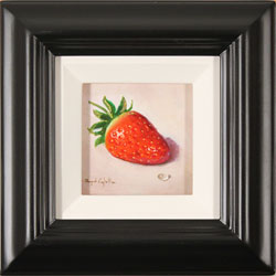 Raymond Campbell, Original oil painting on panel, Strawberry