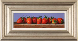 Raymond Campbell, Original oil painting on panel, Strawberries