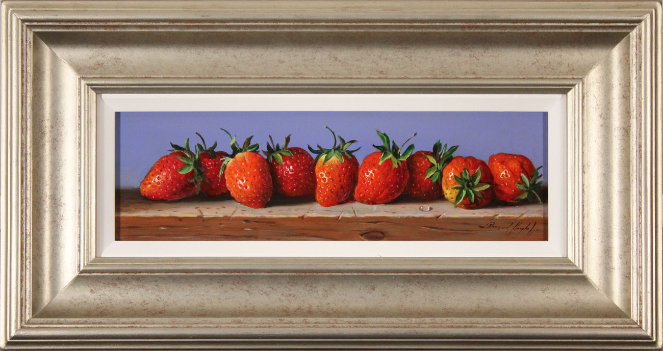 Raymond Campbell, Original oil painting on panel, Strawberries Click to enlarge