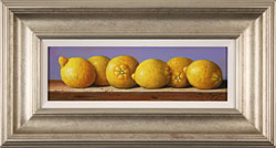 Raymond Campbell, Original oil painting on panel, Lemons