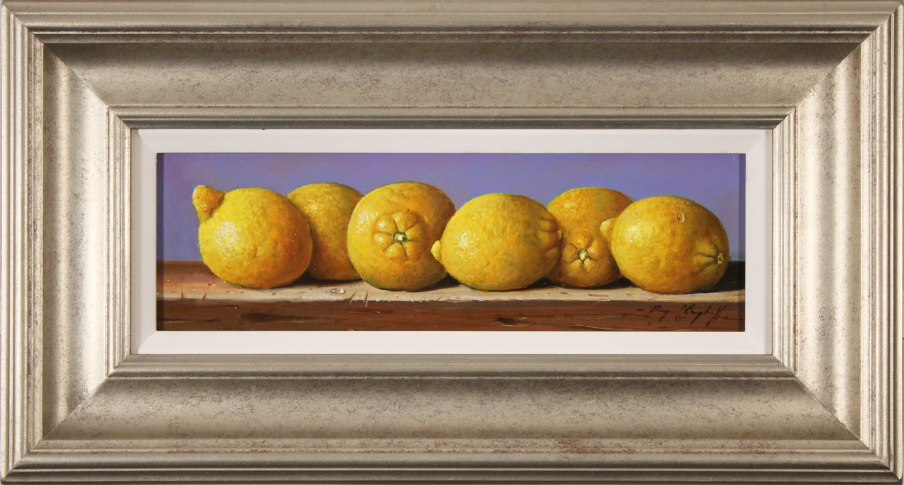 Raymond Campbell, Original oil painting on panel, Lemons Click to enlarge