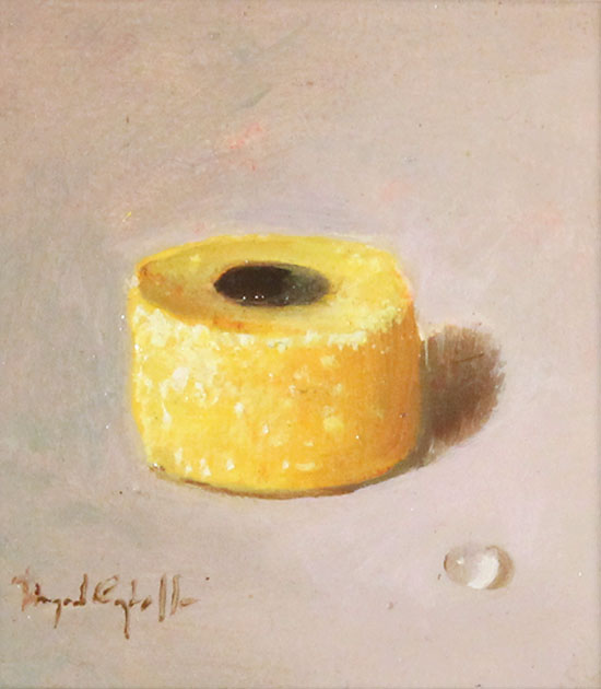 Raymond Campbell, Original oil painting on panel, Liquorice Allsort No frame image. Click to enlarge