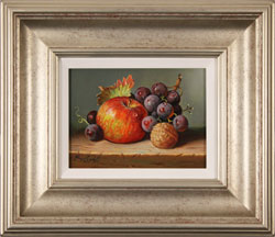 Raymond Campbell, Original oil painting on panel, Apple, Walnut and Grapes Medium image. Click to enlarge
