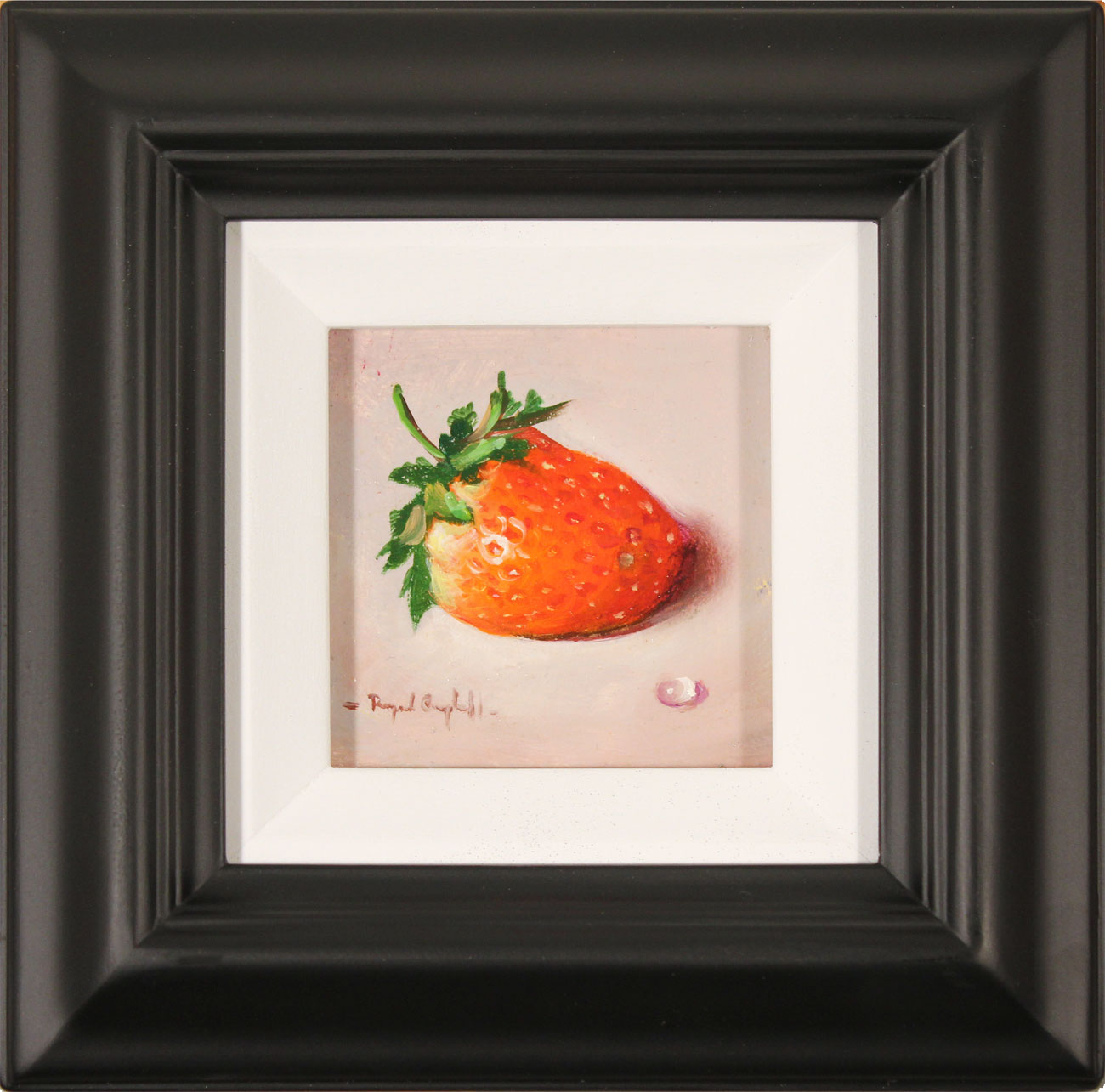 Raymond Campbell, Original oil painting on panel, Strawberry Click to enlarge