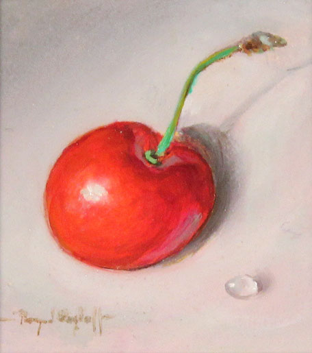 Raymond Campbell, Original oil painting on panel, Cherry No frame image. Click to enlarge