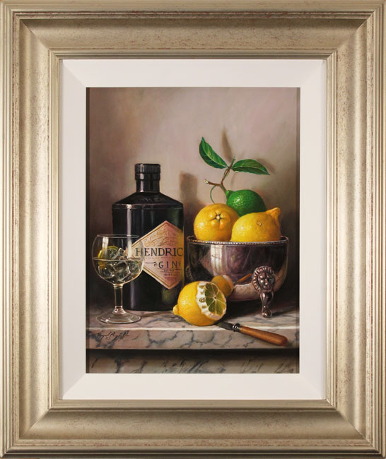 Raymond Campbell, Original oil painting on panel, Gin and Tonic