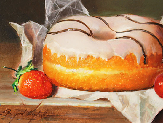 Raymond Campbell, Original oil painting on panel, Afternoon Delight Signature image. Click to enlarge