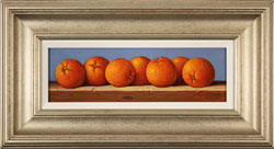 Raymond Campbell, Original oil painting on panel, Oranges Medium image. Click to enlarge
