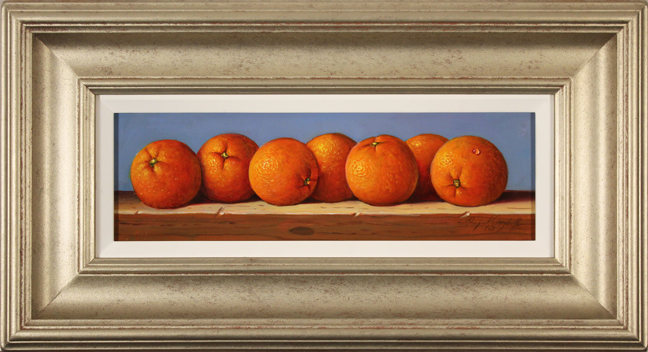 Raymond Campbell, Original oil painting on panel, Oranges Click to enlarge