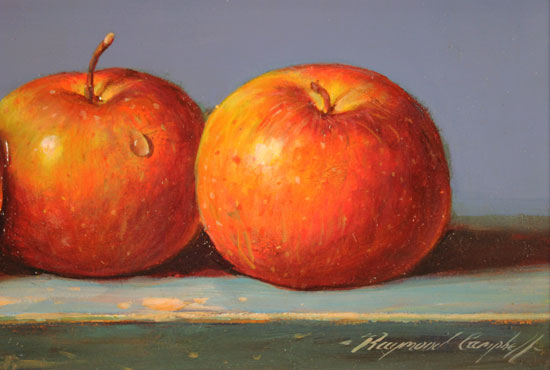 Raymond Campbell, Original oil painting on panel, Apples Signature image. Click to enlarge