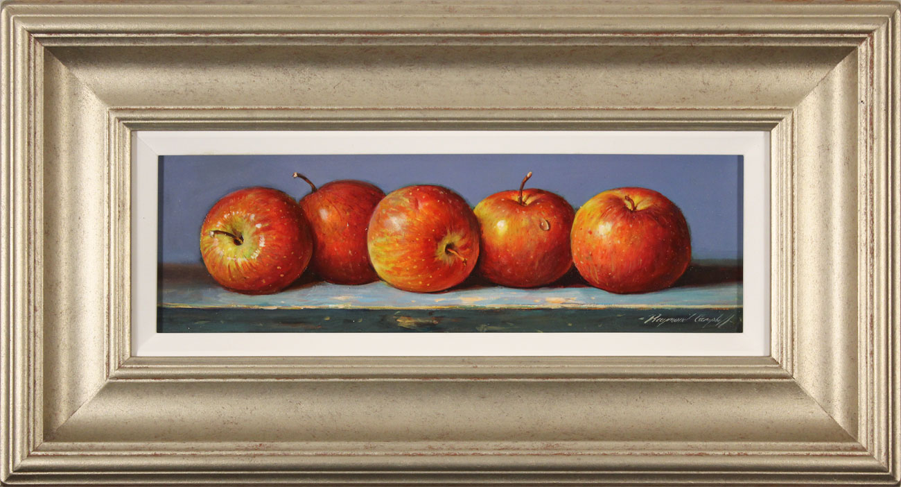 Raymond Campbell, Original oil painting on panel, Apples Click to enlarge