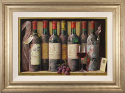 Raymond Campbell, Original oil painting on panel, Cellar Favourites