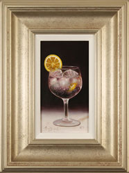 Raymond Campbell, Original oil painting on panel, Slice of Lemon