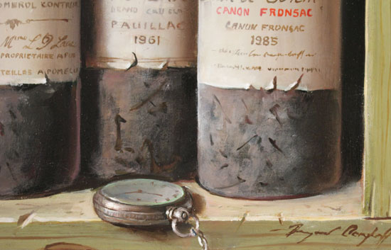 Raymond Campbell, Original oil painting on panel, A Triple Vintage Signature image. Click to enlarge