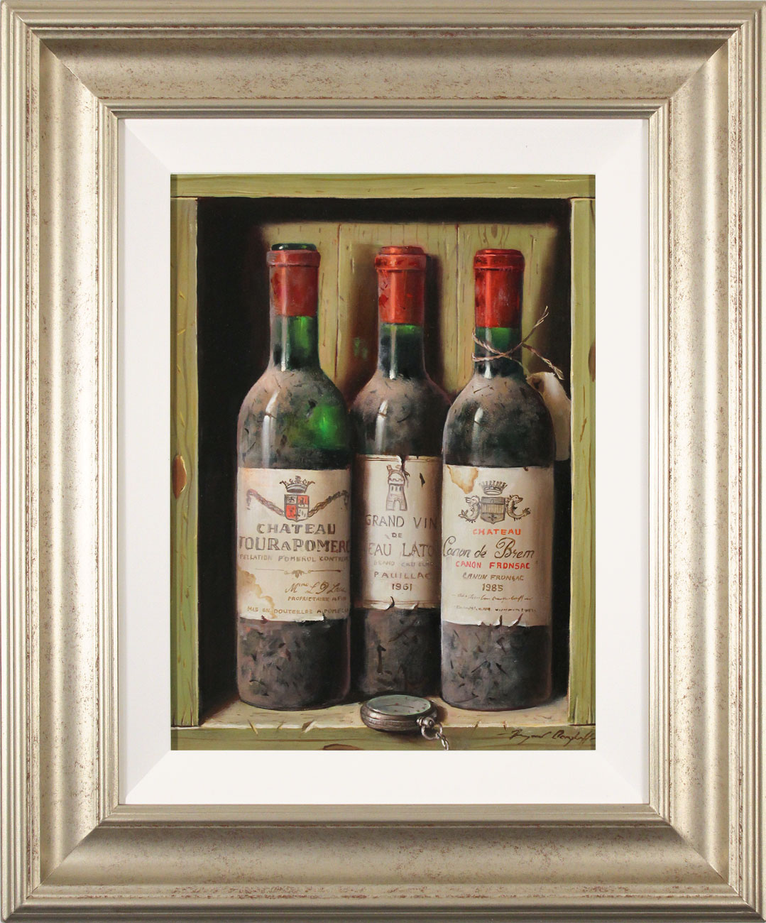 Raymond Campbell, Original oil painting on panel, A Triple Vintage Click to enlarge