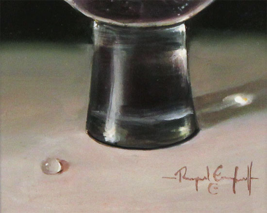 Raymond Campbell, Original oil painting on panel, Lime and Sparkle  Signature image. Click to enlarge
