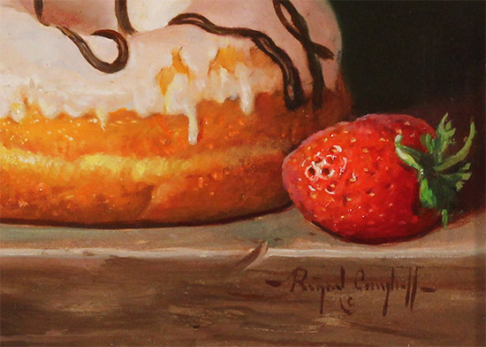 Raymond Campbell, Original oil painting on panel, Sweet Treat  Signature image. Click to enlarge