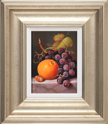 Raymond Campbell, Original oil painting on panel, A Ripe Selection