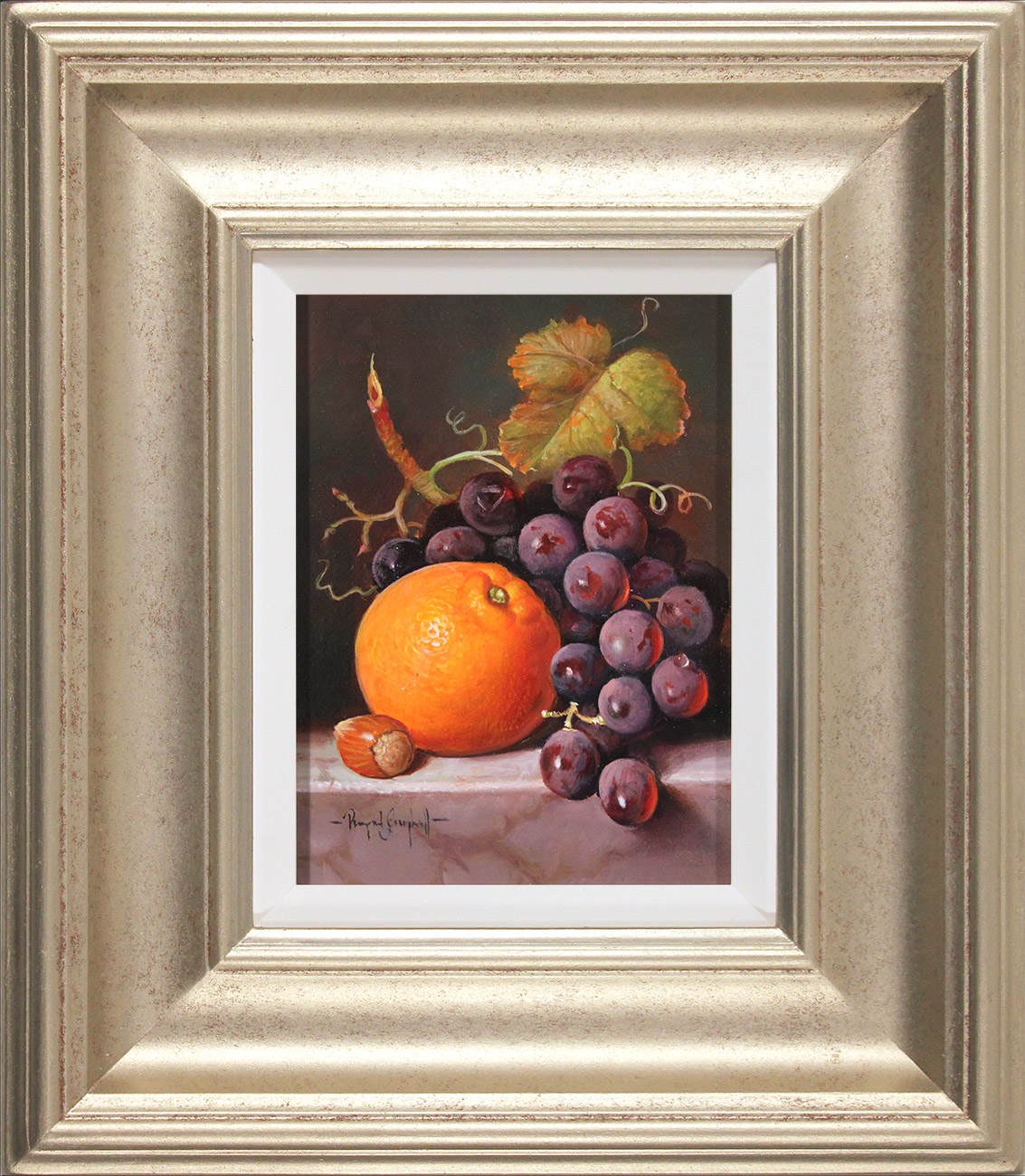 Raymond Campbell, Original oil painting on panel, A Ripe Selection  Click to enlarge