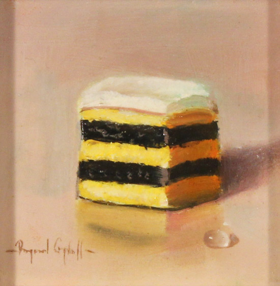 Raymond Campbell, Original oil painting on panel, Double Stack Liquorice Allsort  No frame image. Click to enlarge
