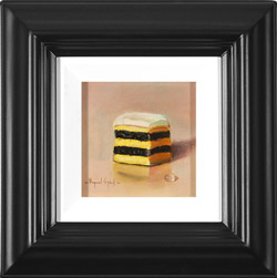 Raymond Campbell, Original oil painting on panel, Double Stack Liquorice Allsort